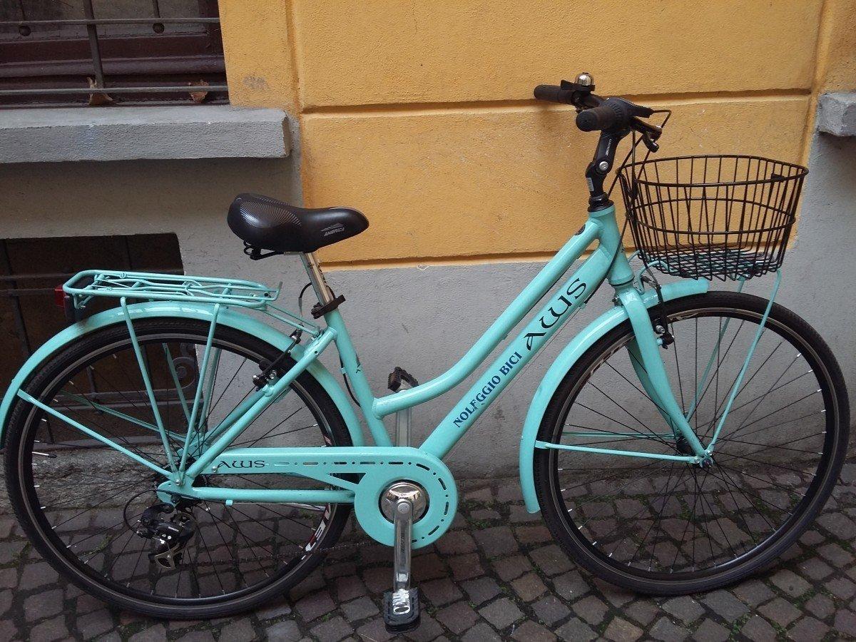 Woman City Bike