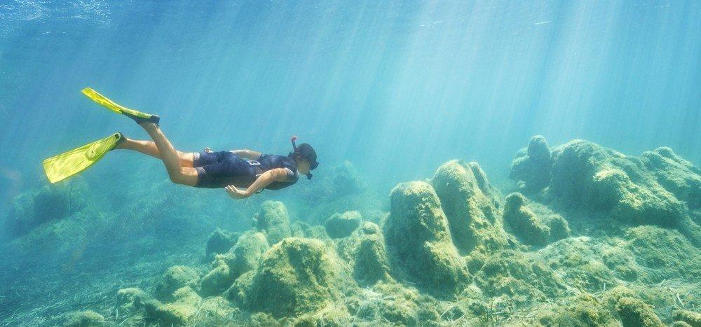 Snorkeling a Capo Figari