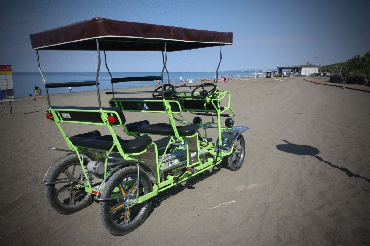Rickshaw or Cycle wheelchair with pedal assistance 6 + 2