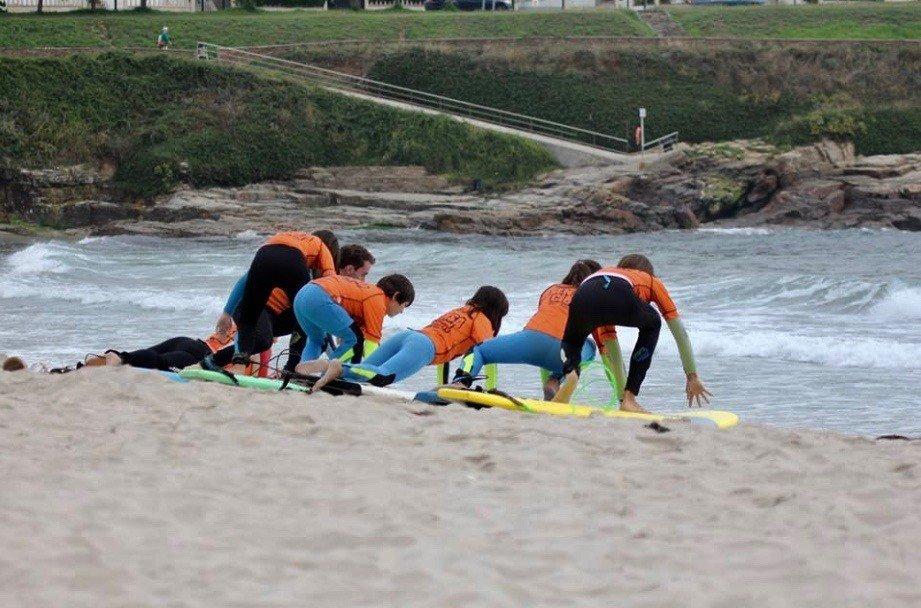 Lezione di surf per principianti