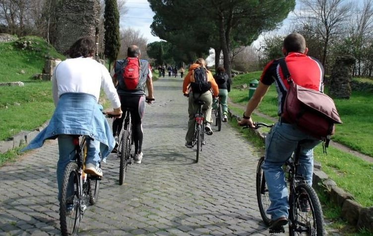Rome Electric-assist bike tour Ancient Appian Way, Catacombs and Parco degli Acquedotti